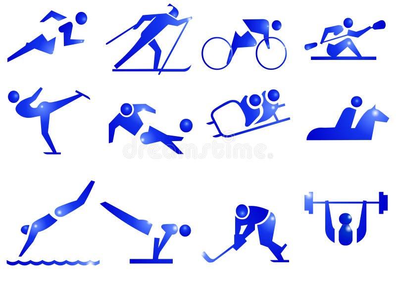 De Pictogrammen van het Symbool van de sport royalty-vrije stock afbeeldingen