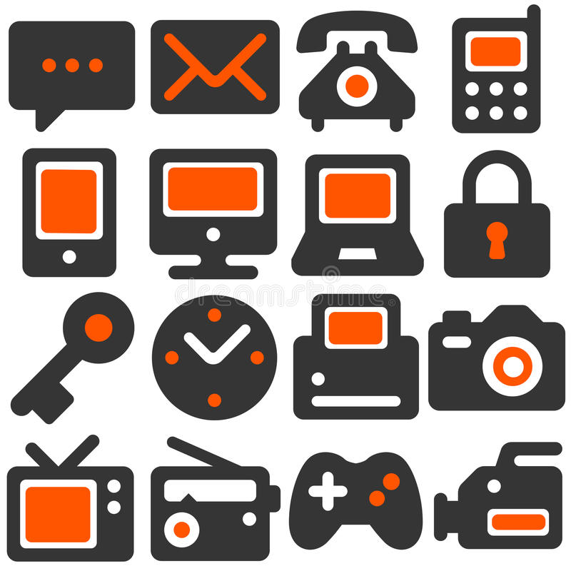 De pictogrammen van het toestel royalty-vrije illustratie
