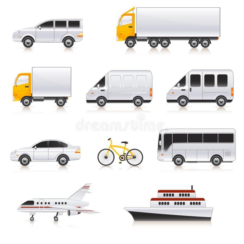 De pictogrammen van het vervoer