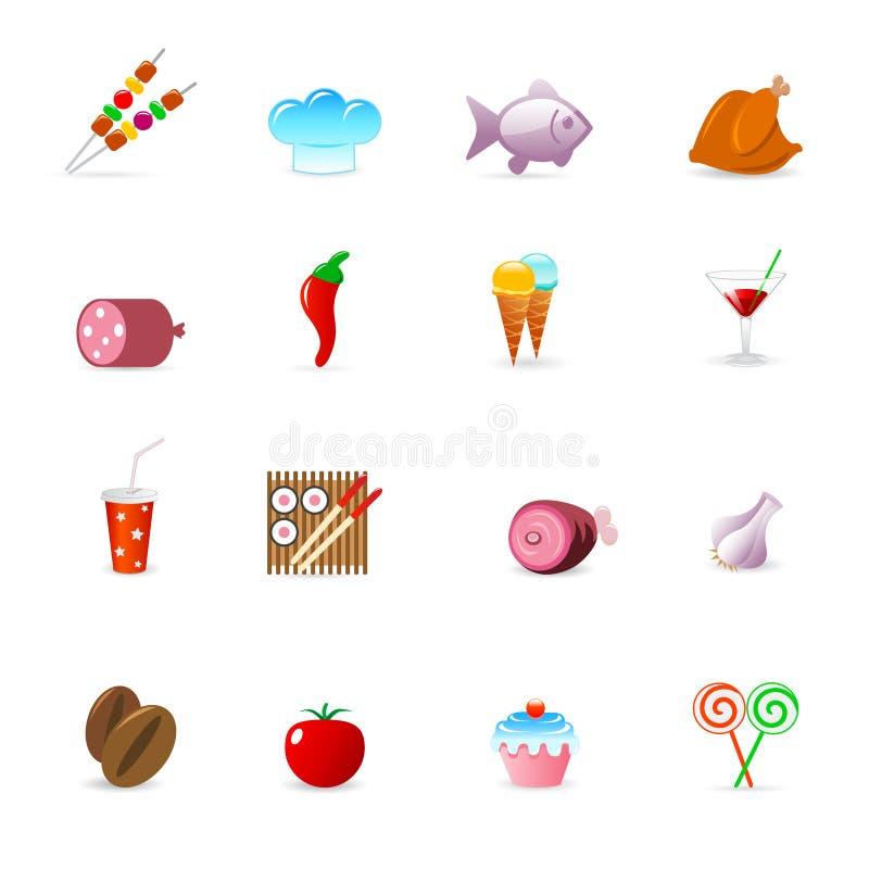De pictogrammen van het voedsel vector illustratie