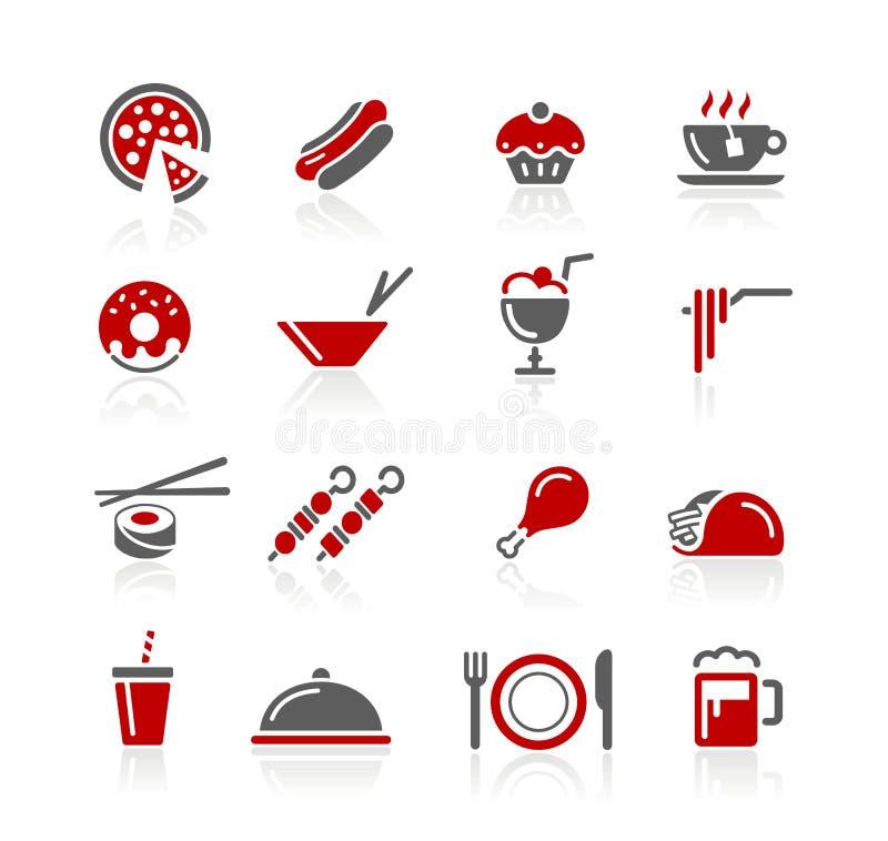 De Pictogrammen van het voedsel/Reeks 2 van 2 Reeksen van // Redico vector illustratie