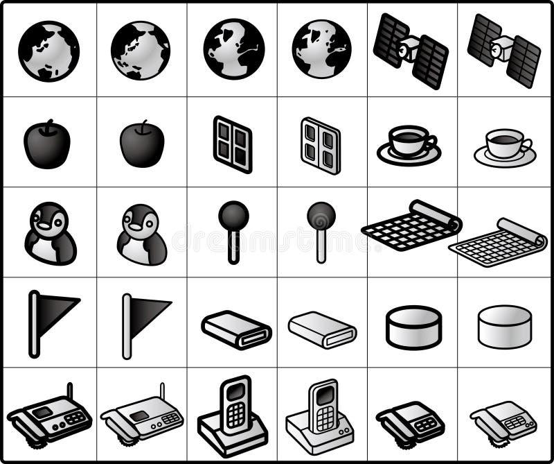 De Pictogrammen van het voorzien van een netwerk #02 stock illustratie