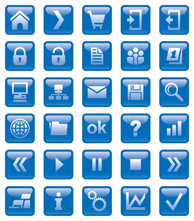 De pictogrammen van het Web royalty-vrije illustratie