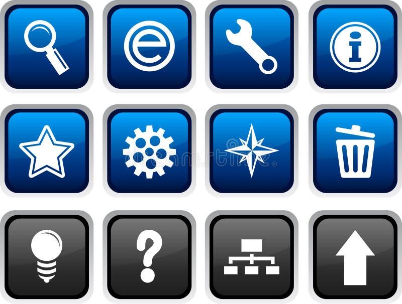 De pictogrammen van het Web. vector illustratie