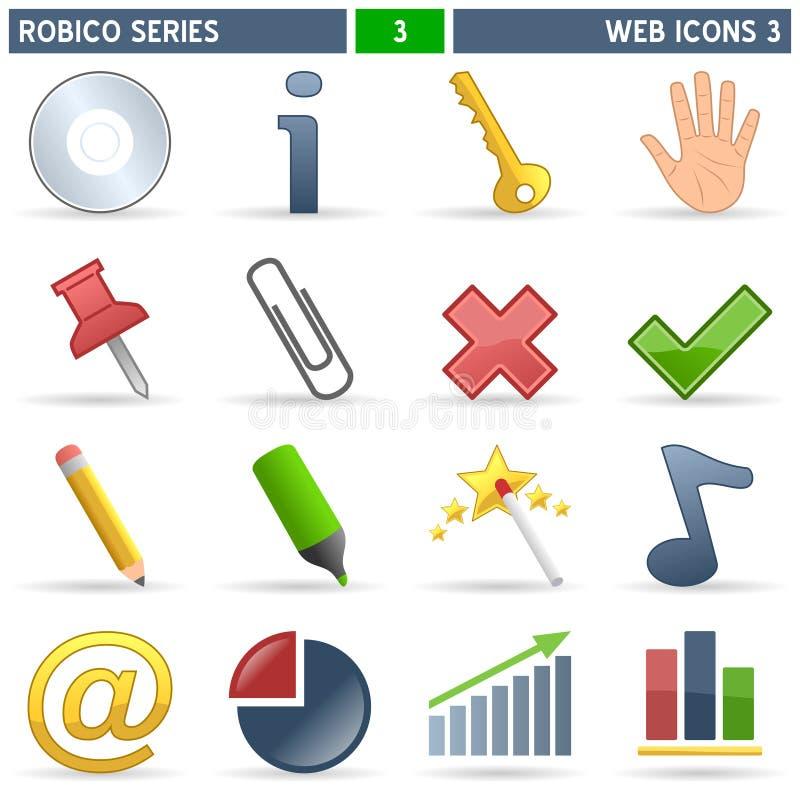 De Pictogrammen van het Web [3] - Reeks Robico stock illustratie