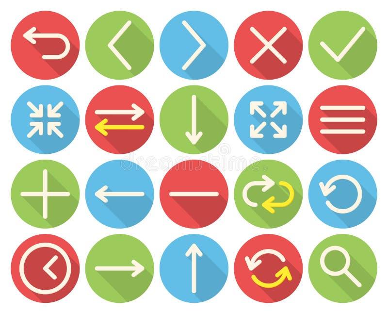 De pictogrammen van het Web stock illustratie