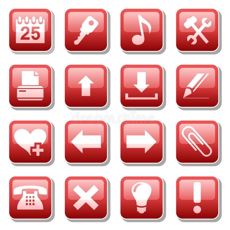 De pictogrammen van het Web. Deel twee royalty-vrije illustratie