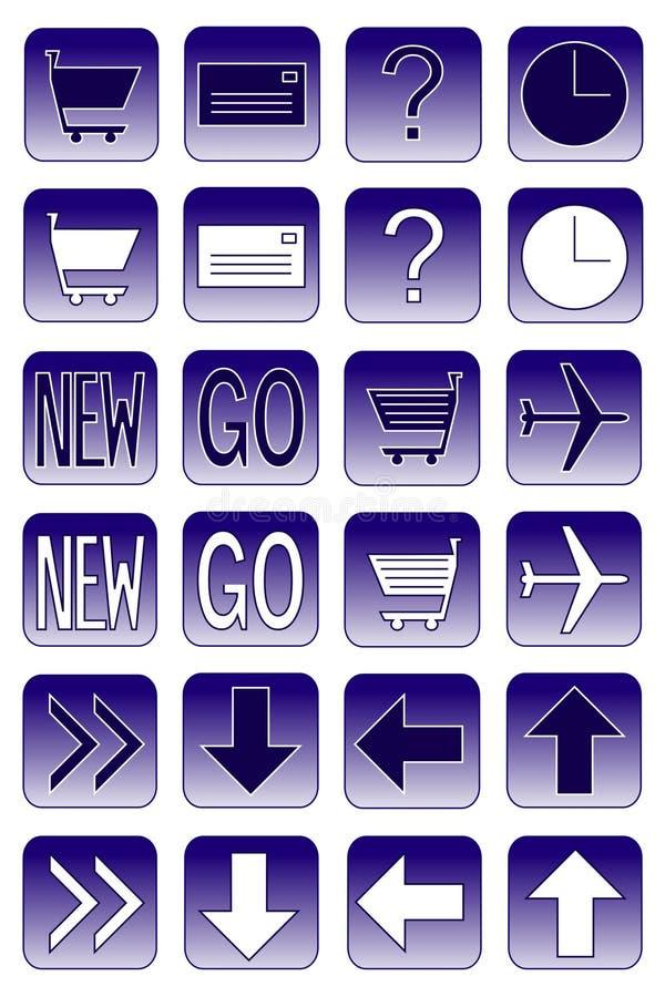De pictogrammen van het Web: donkerblauwe 2 royalty-vrije illustratie