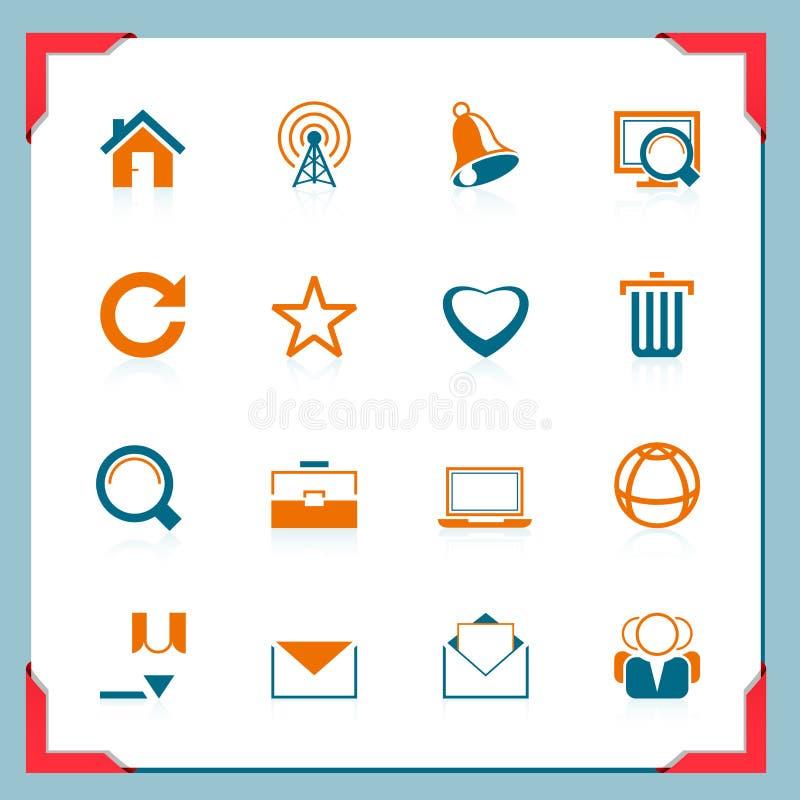 De pictogrammen van het Web | In een frame reeks stock illustratie