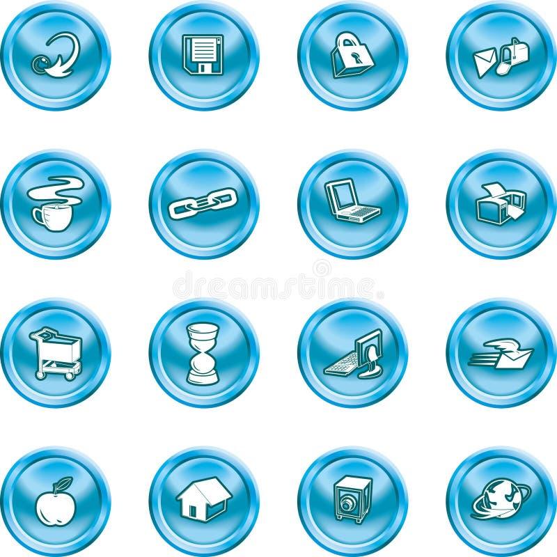 De pictogrammen van het Web en van de Gegevensverwerking. vector illustratie