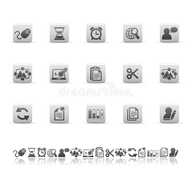 De Pictogrammen Van Het Web En Van Het Bureau Stock Fotografie