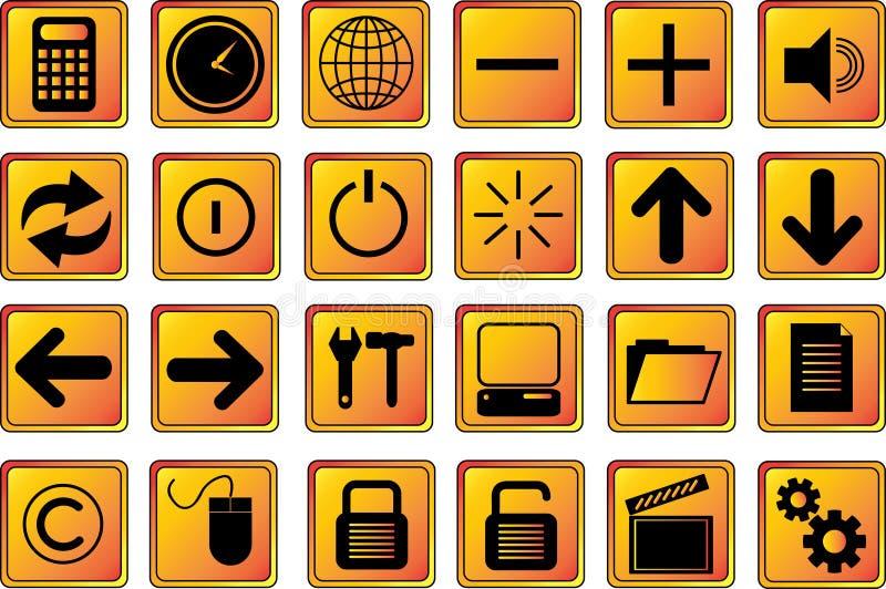 De pictogrammen van het Web knoopt goud 2 dicht vector illustratie