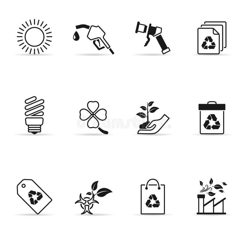 De Pictogrammen van het Web - Meer Milieu stock illustratie