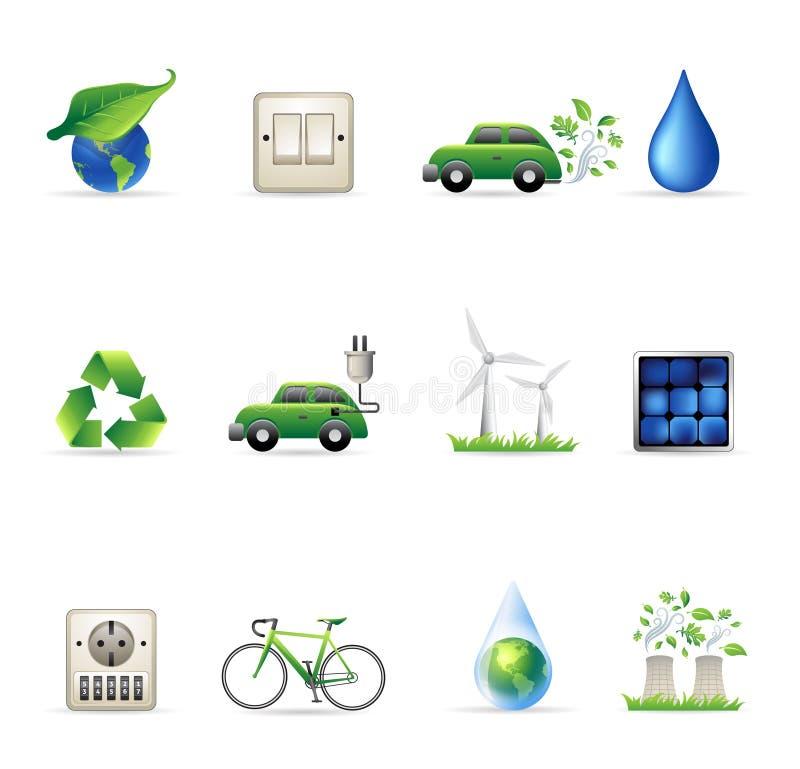 De Pictogrammen van het Web - Milieu royalty-vrije illustratie