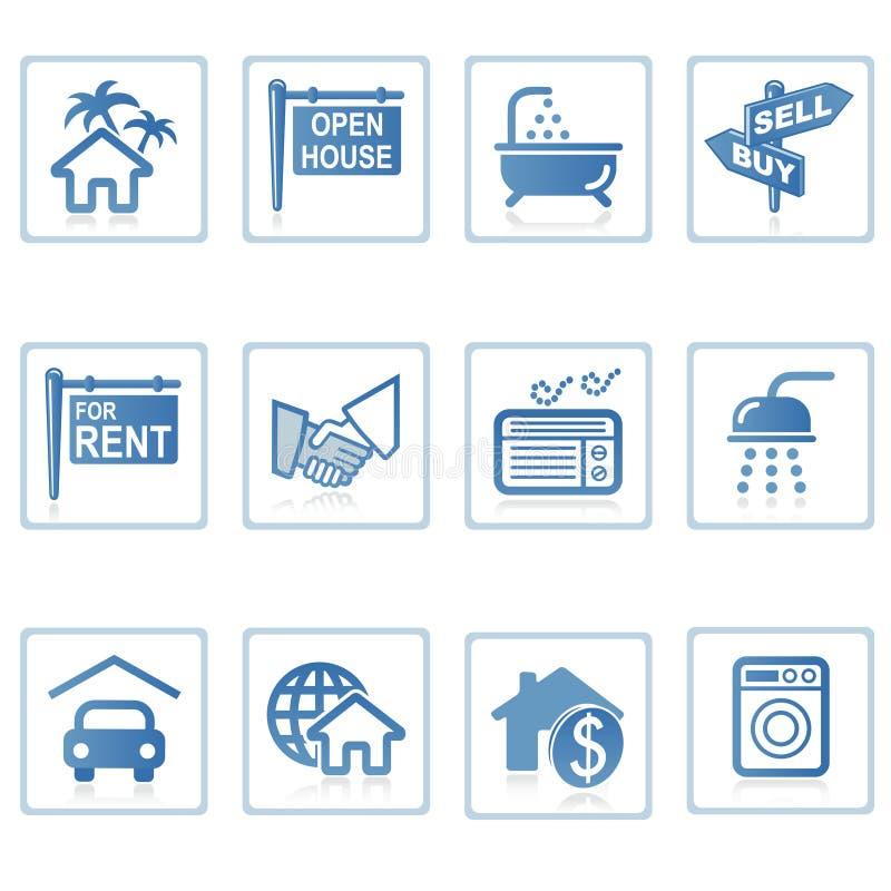 De pictogrammen van het Web: Onroerende goederen 1 vector illustratie