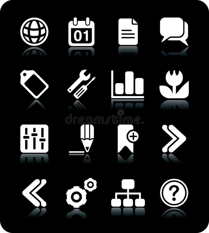 De pictogrammen van het Web van Internet stock illustratie