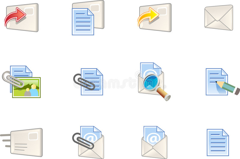 De Pictogrammen van het Web - Varico Reeks #1 vector illustratie