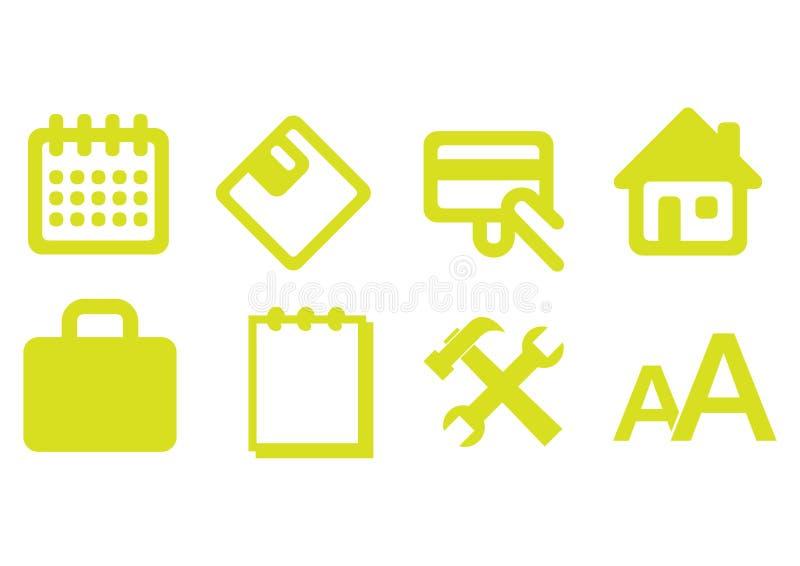 De pictogrammen van het Web - vector royalty-vrije illustratie