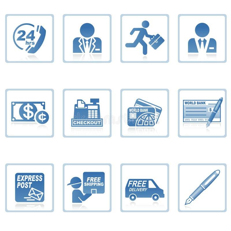 De pictogrammen van het Web: zaken en financiën III royalty-vrije illustratie