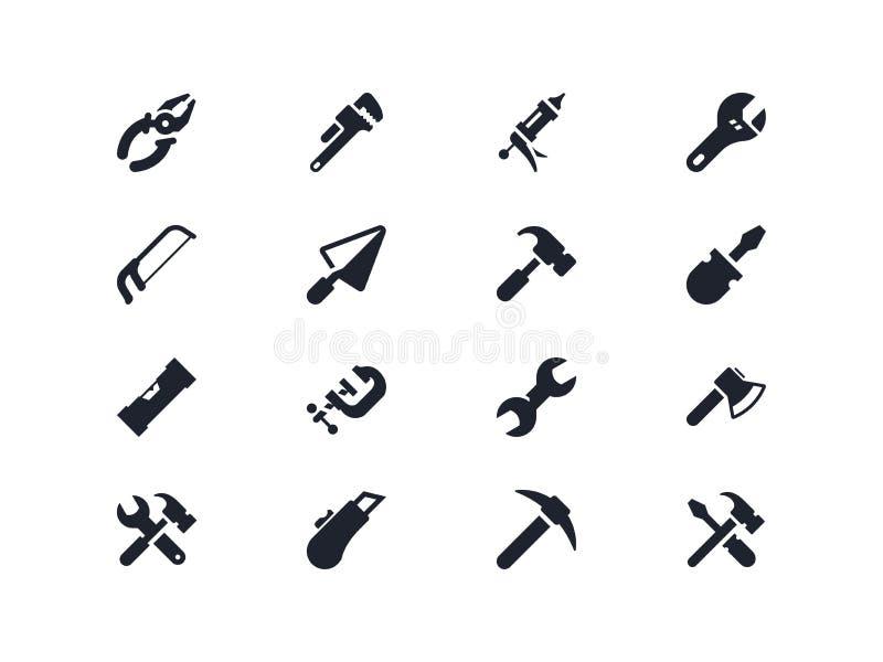 De pictogrammen van het werkhulpmiddelen Lyrareeks stock illustratie