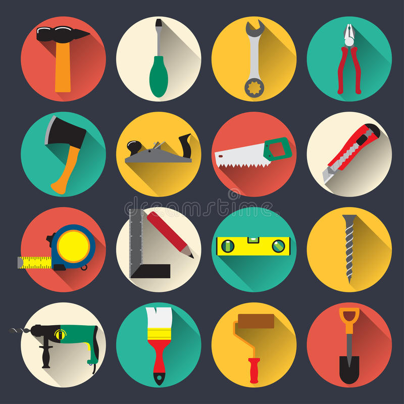 De pictogrammen van huishoudenhulpmiddelen stock illustratie