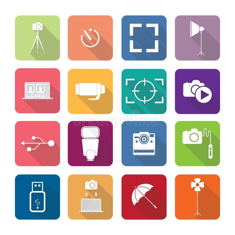 De pictogrammen van huistoestellen in vlakke ontwerpreeks 3 stock illustratie