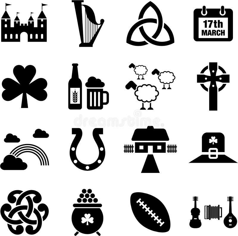 De pictogrammen van Ierland stock illustratie