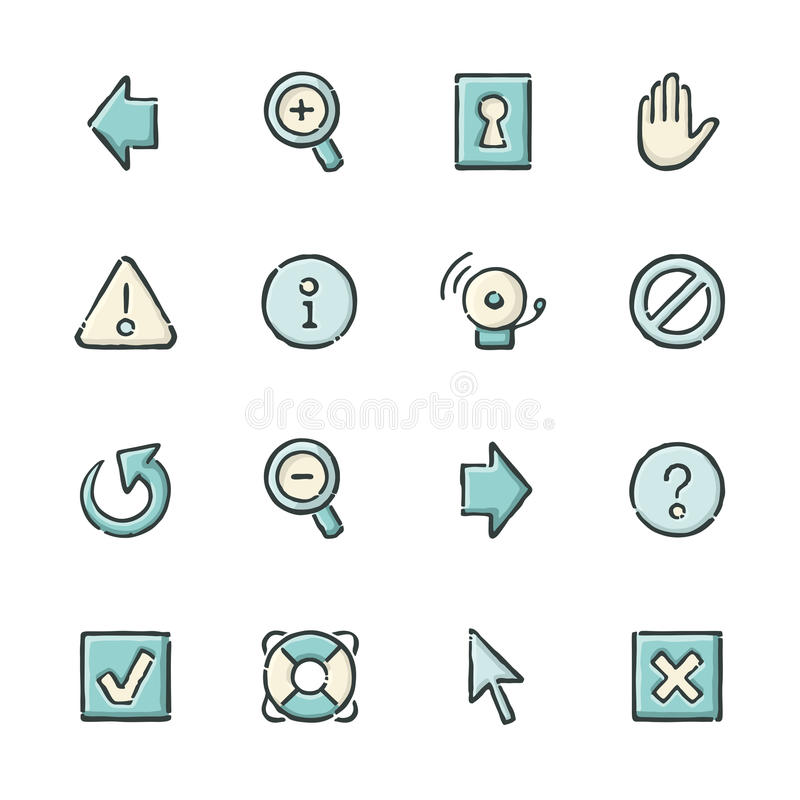 De pictogrammen van Internet stock illustratie