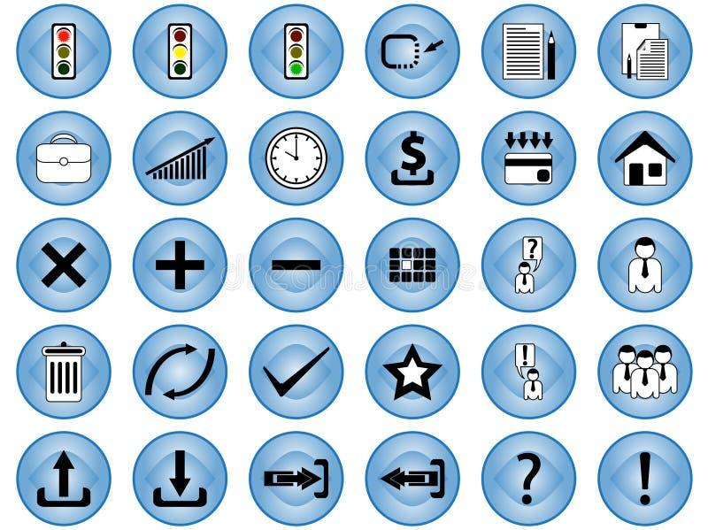 De pictogrammen van Internet vector illustratie