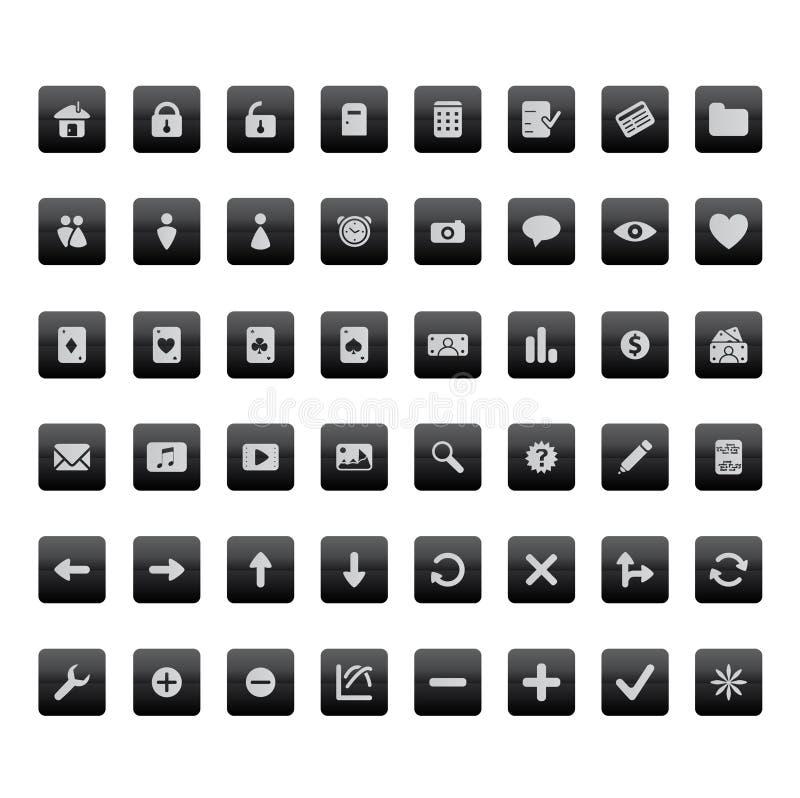 De pictogrammen van Internet en van de toepassing vector illustratie