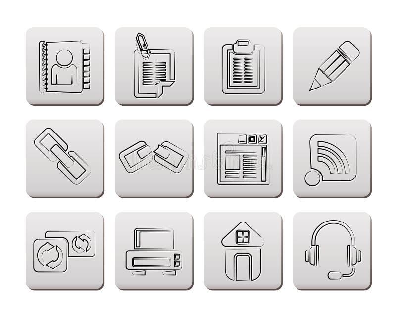 De pictogrammen van Internet en van de website vector illustratie