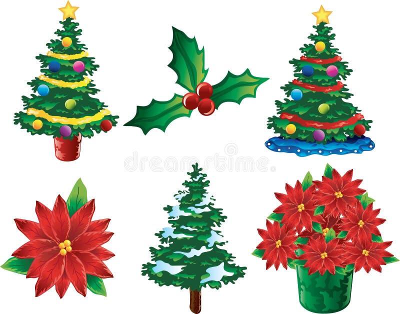 De pictogrammen van Kerstmis royalty-vrije illustratie