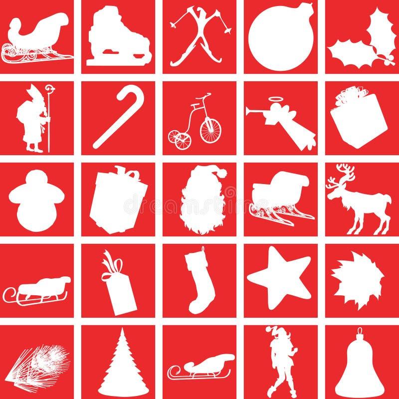 De pictogrammen van Kerstmis. stock illustratie