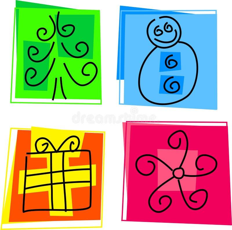 De pictogrammen van Kerstmis vector illustratie