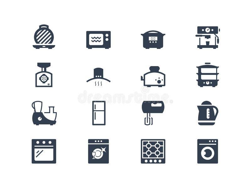 De Pictogrammen van keukentoestellen royalty-vrije illustratie