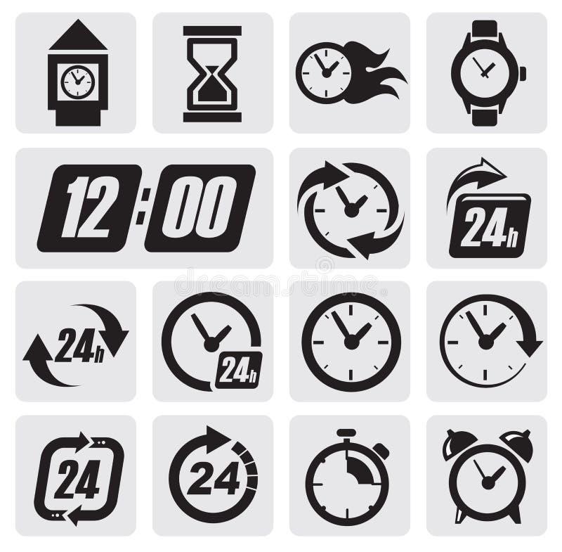 De pictogrammen van klokken royalty-vrije illustratie