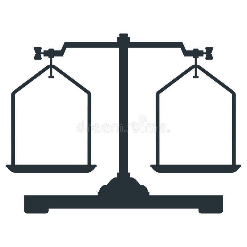 De pictogrammen van laboratoriumschalen stock illustratie
