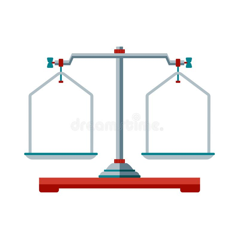 De pictogrammen van laboratoriumschalen royalty-vrije illustratie