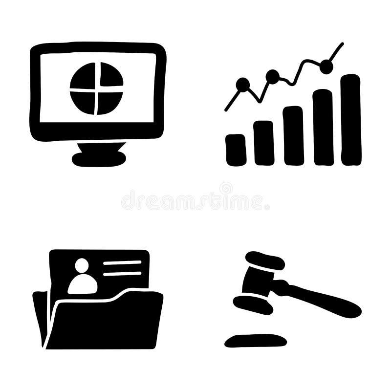 De Pictogrammen van leidingsglyph stock illustratie