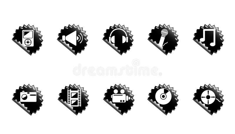 De pictogrammen van media. royalty-vrije illustratie