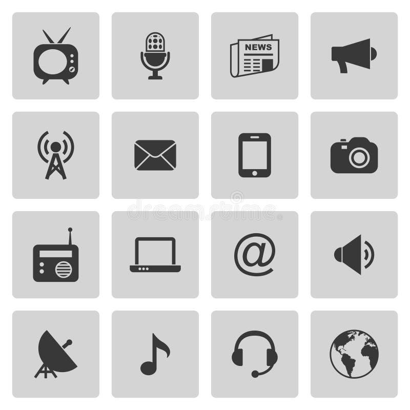 De pictogrammen van media stock illustratie