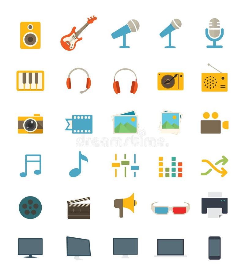 De pictogrammen van media royalty-vrije stock fotografie