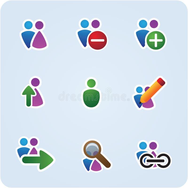 De pictogrammen van mensen stock illustratie