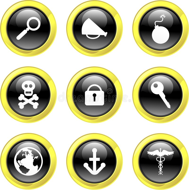 De pictogrammen van objecten stock illustratie