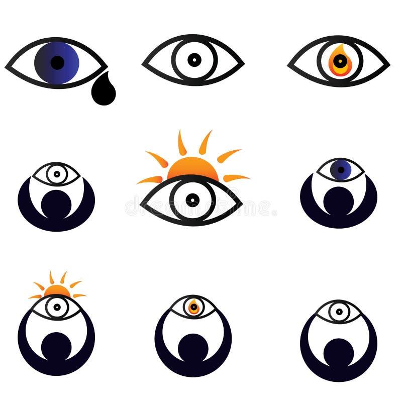 De pictogrammen van ogen vector illustratie