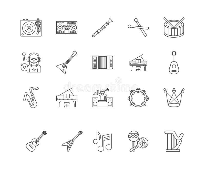 De pictogrammen van de overleglijn, tekens, vectorreeks, het concept van de overzichtsillustratie royalty-vrije illustratie