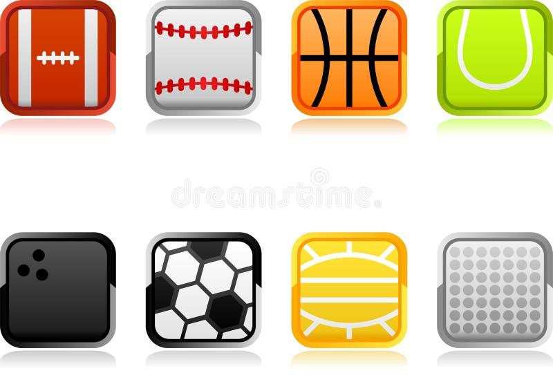 De pictogrammen van sporten stock illustratie