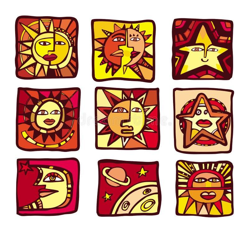 De pictogrammen van sterren vector illustratie