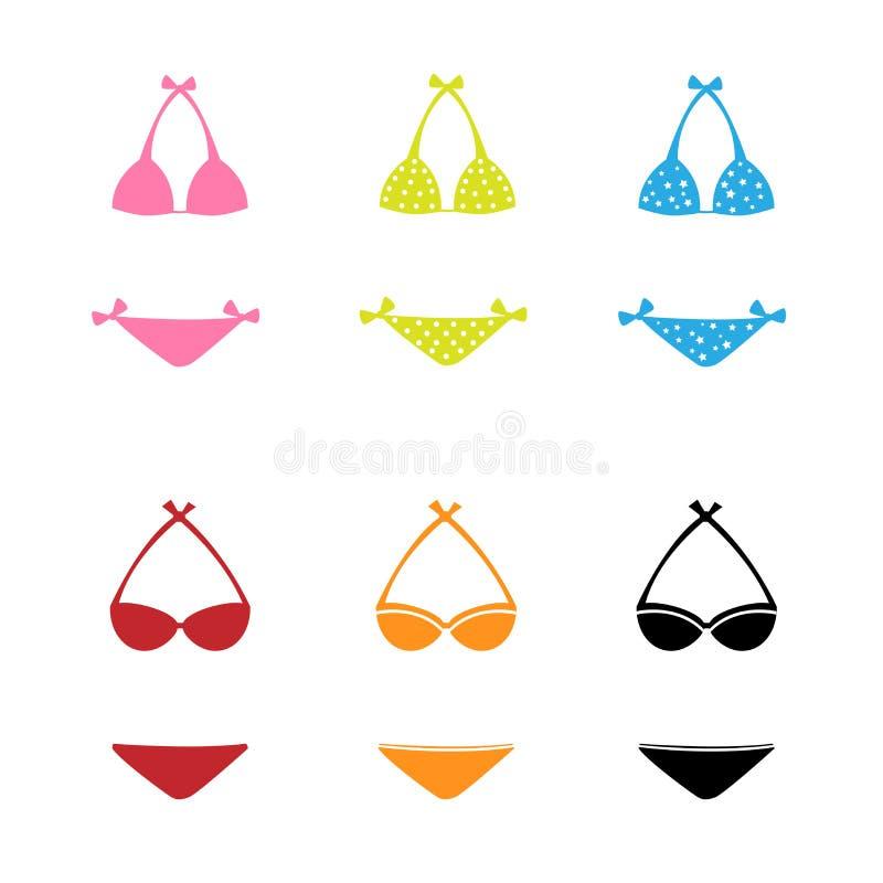 De pictogrammen van Swimwear stock illustratie