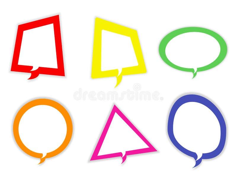 De pictogrammen van de toespraakbel - dialoogvakjes vectorreeks royalty-vrije illustratie